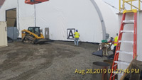 August 2019 - Vapor Sealing Tent (Geotextile and Gravel)