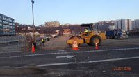 December 2018 - Preparing Auxiliary Parking Lot Area for Paving